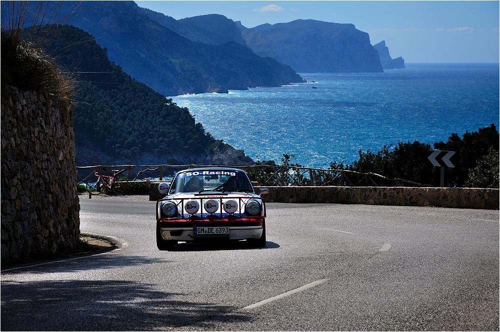 mit dem Porsche an der Westküste ...