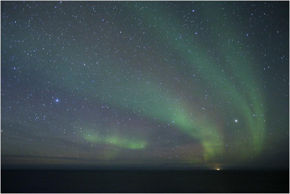 Mit dem Postschiff am Polarlicht vorbei