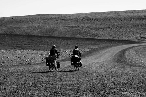 mit dem Rad durch Island