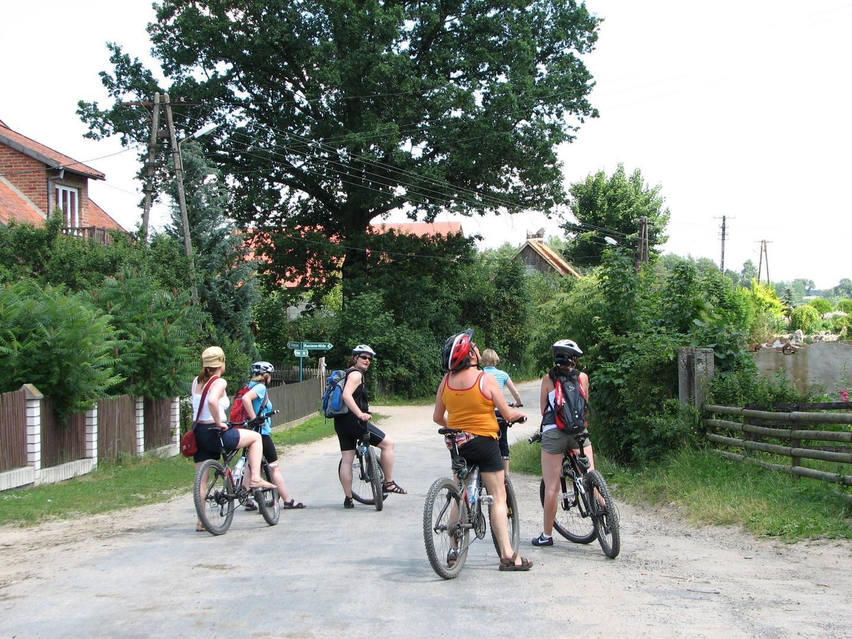 mit dem Rad unterwegs in Masuren