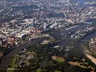 mit dem Segelflieger über Magdeburg
