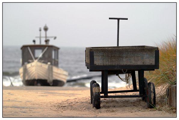 Mit dem Wagen zur Yacht...