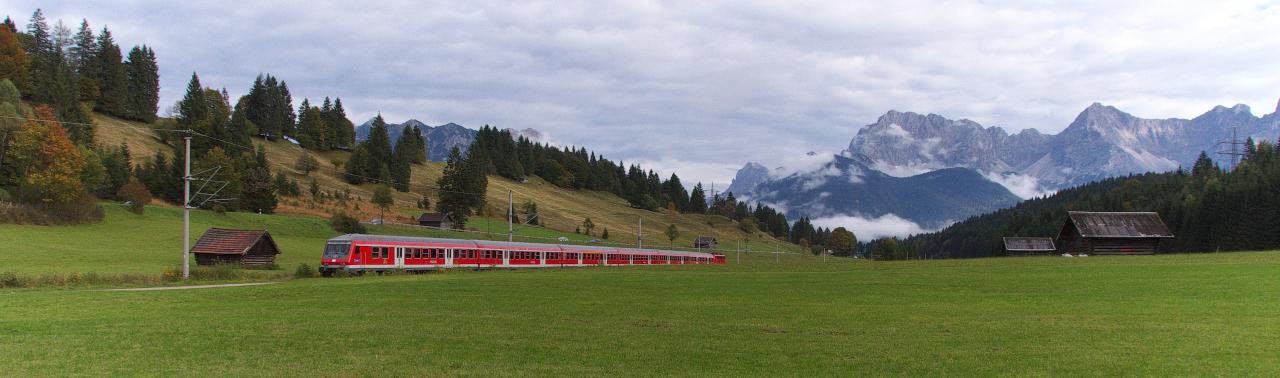 Mit dem Zug in die Berge..