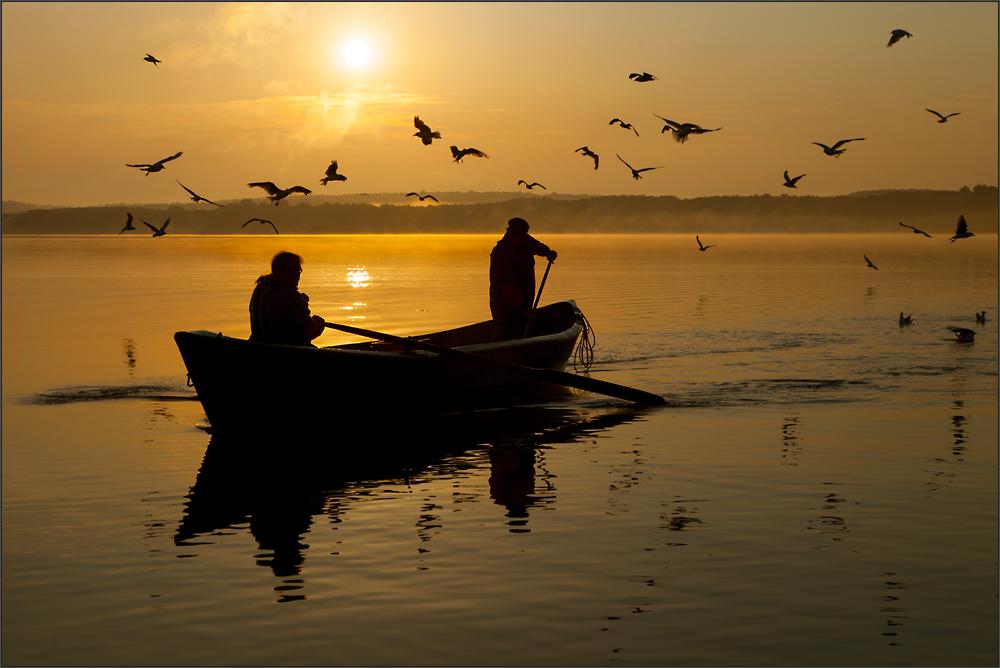 mit den Fischern unterwegs