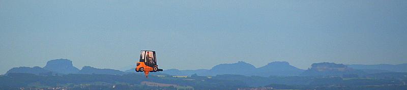 Mit den Gabelstapler zur Festung Königstein