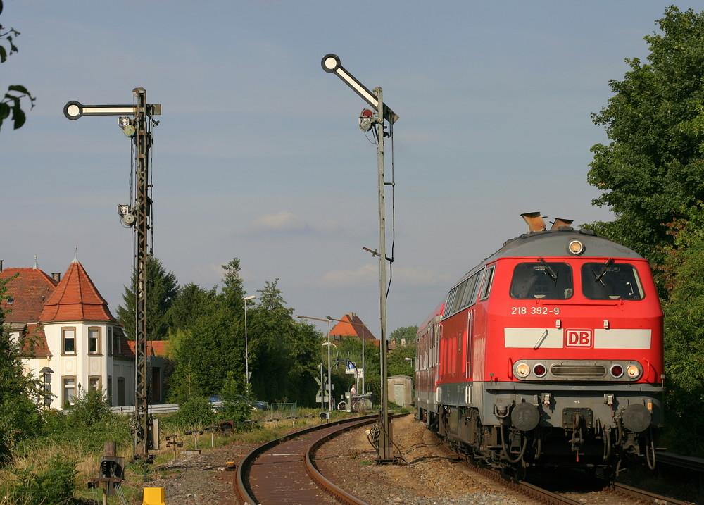 Mit der 218 durchs Kraichgau
