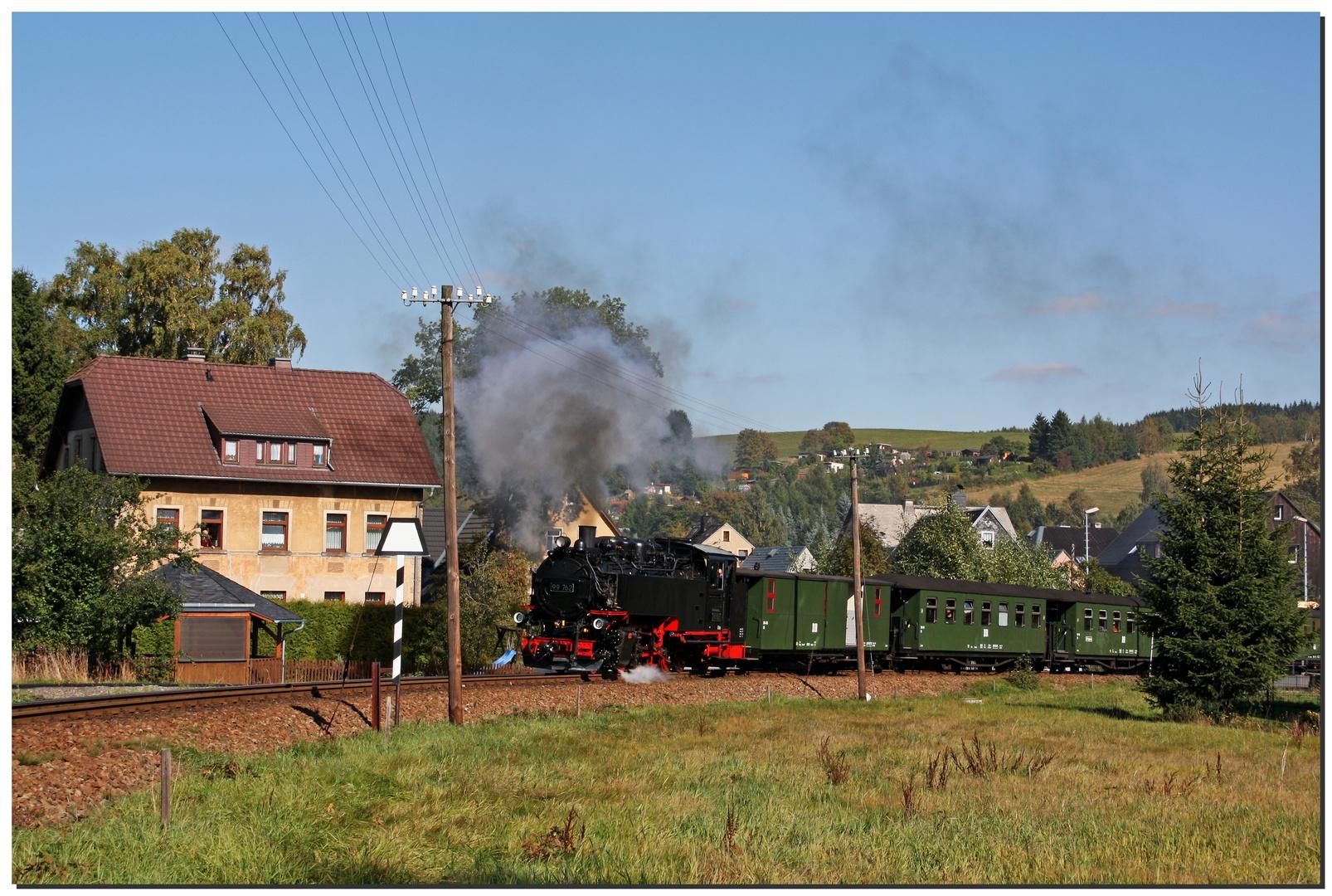Mit der Bimmelbahn nach Oberwiesenthal