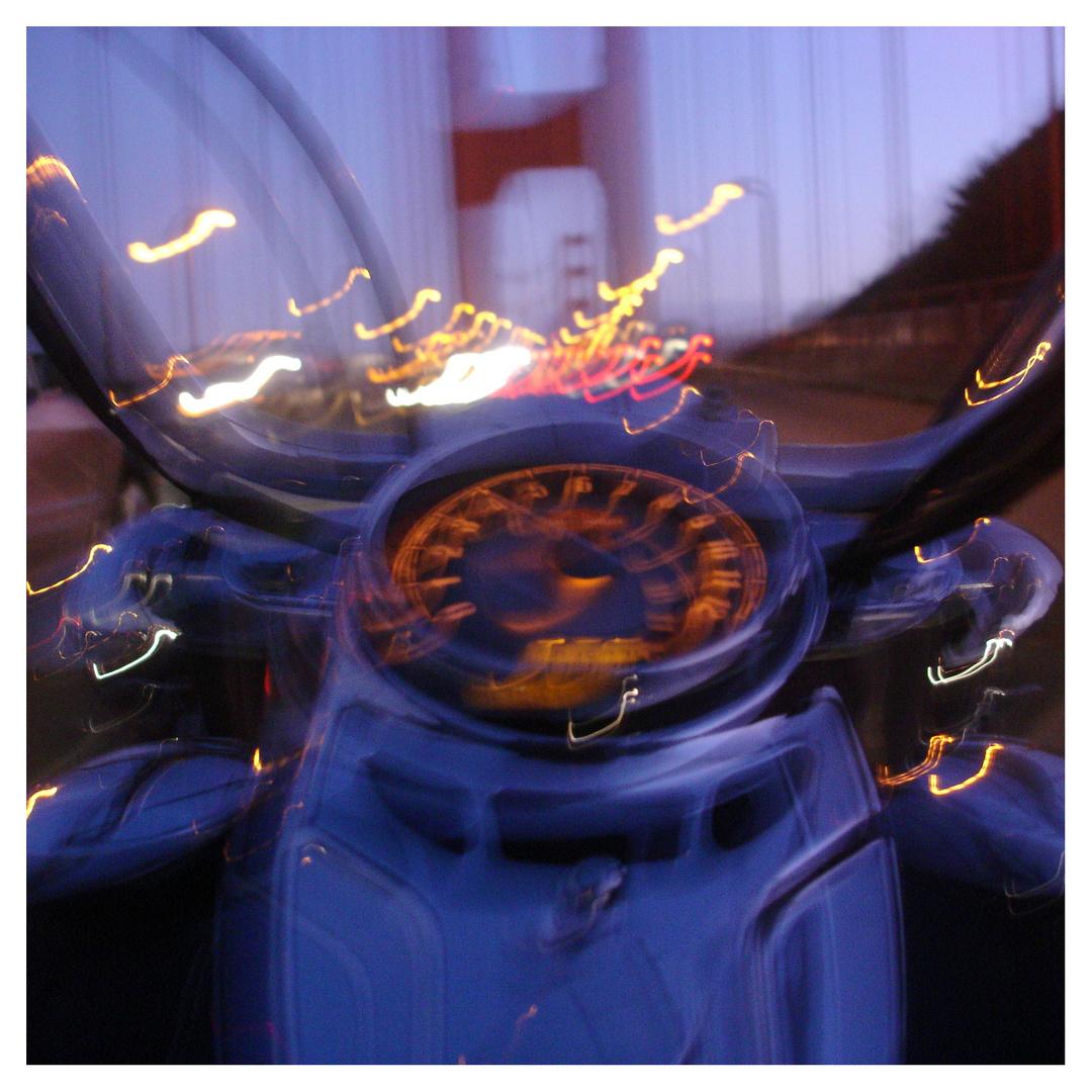 Mit der Harley auf der Golden Gate