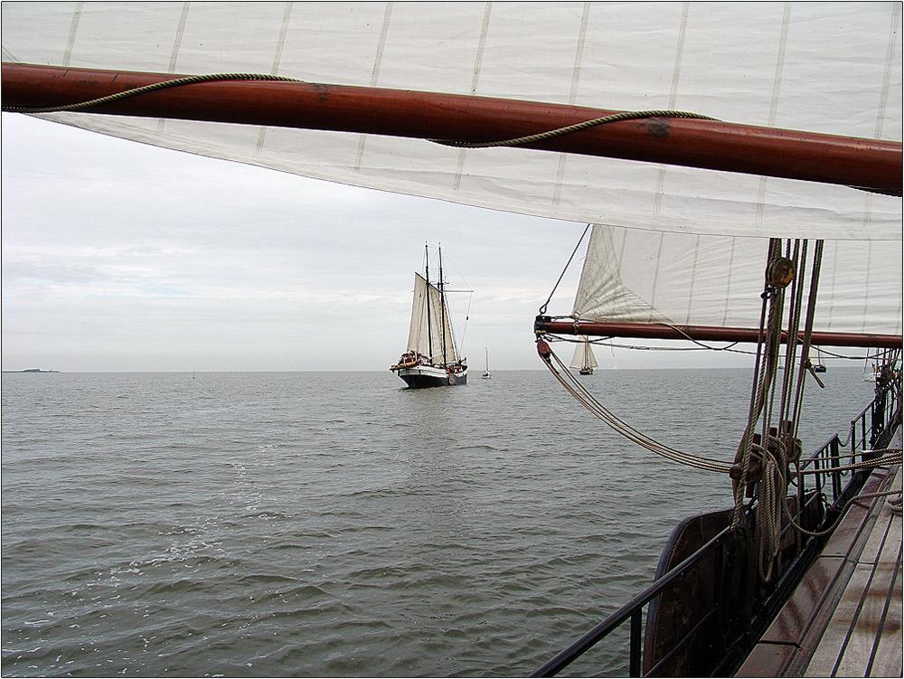 mit der *Nil Desperandum auf dem IJsselmeer