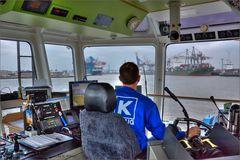 Mit der RT ZOE im Waltershofer Hafen