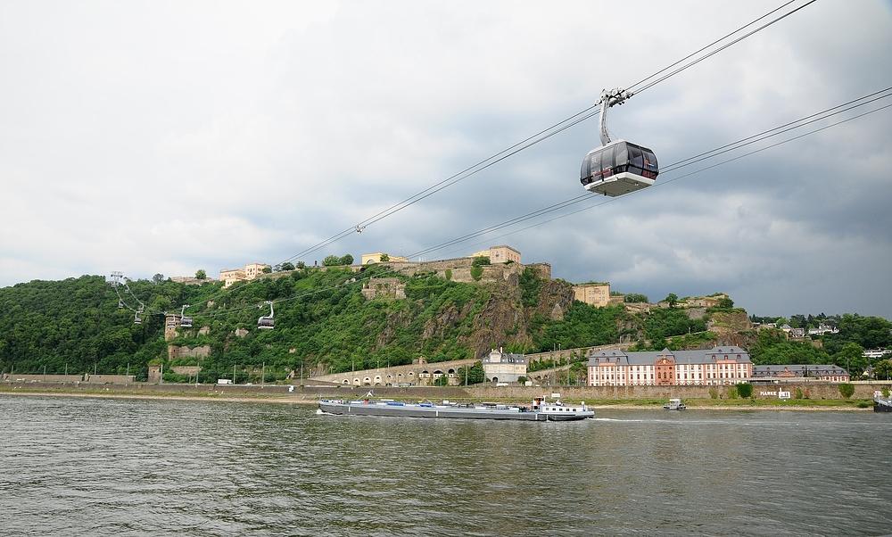 Mit der Seilbahn auf die Festung Ehrenbreitstein...