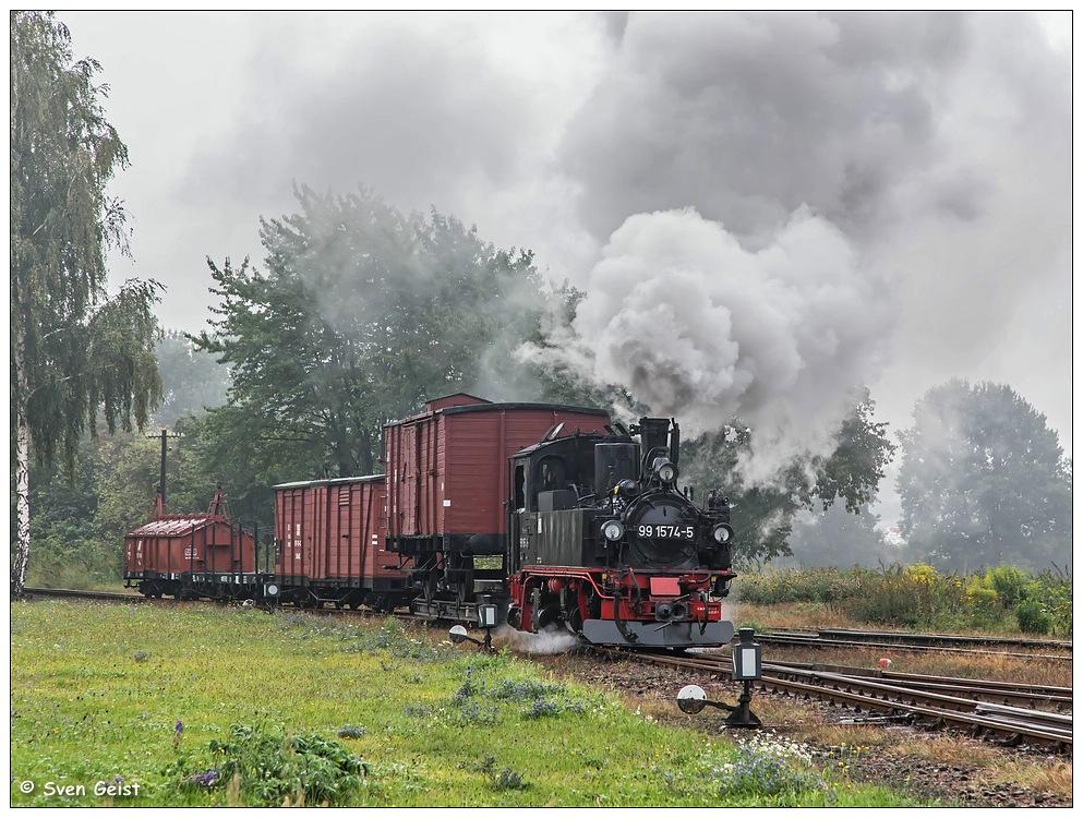Mit einem Güterzug ins verregnete Mügeln
