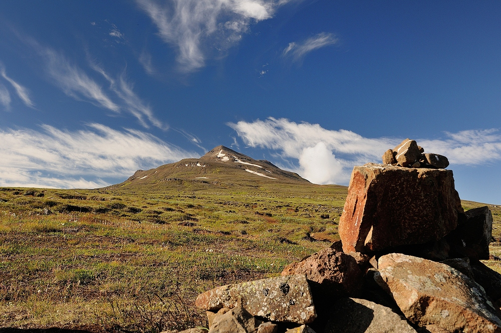 Mit einem letzten Blick zum Berg Súlur, endet eine tolle Tour. Der...