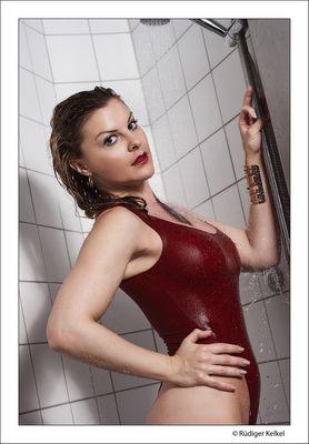 Mit Jeanette unter der Dusche