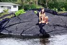 Mit JESSICA an den Kapoho-Tide-Pools -