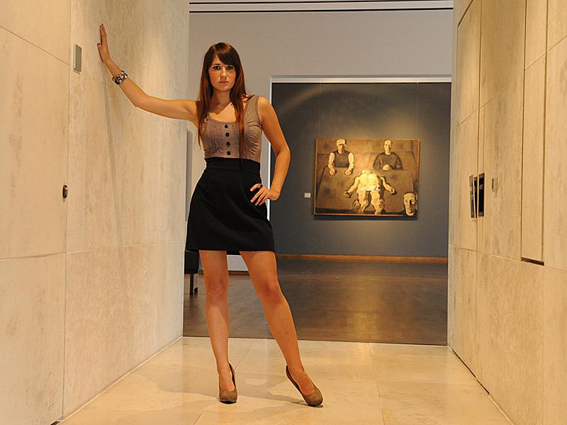 Mit Julia im Museum...