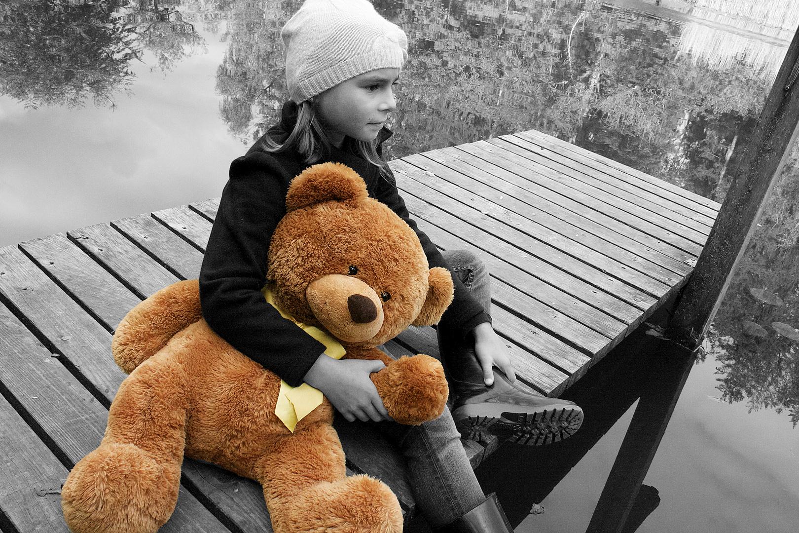 mit meinem Teddy...