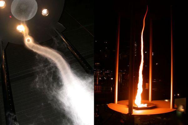 (mit Rauch) TORNADO-SIMULATION (mit Feuer)