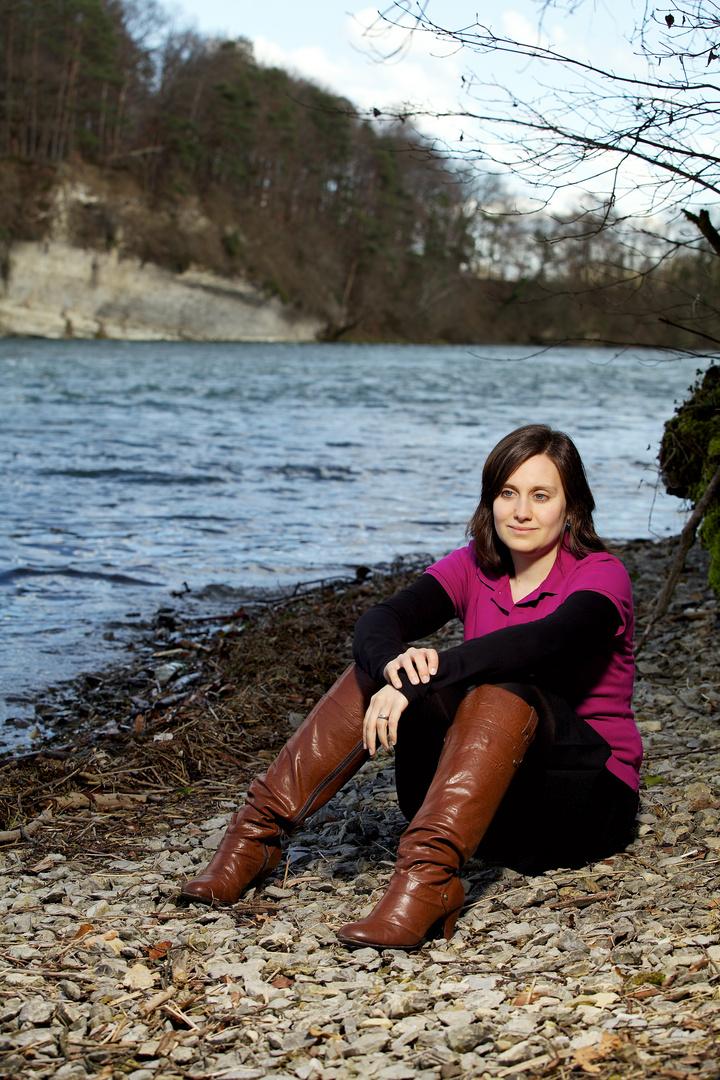 Mit Rebi am Rhein 2 . . .