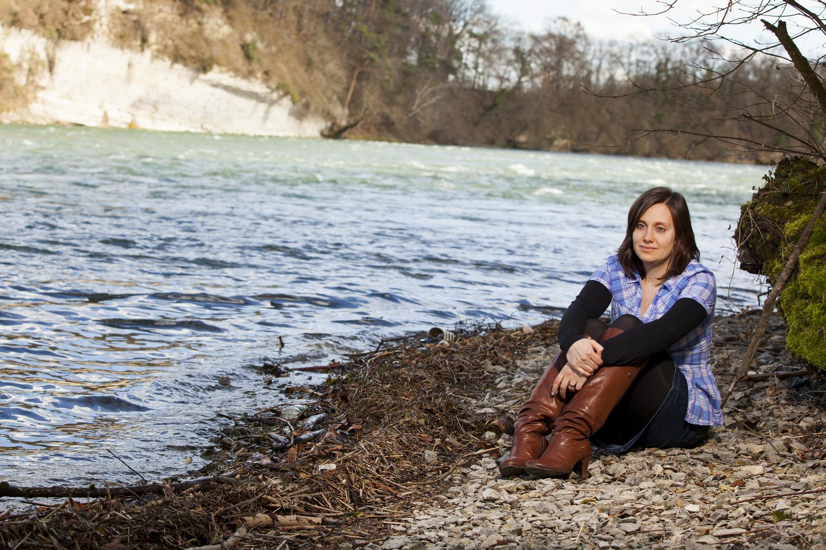 Mit Rebi am Rhein . . .
