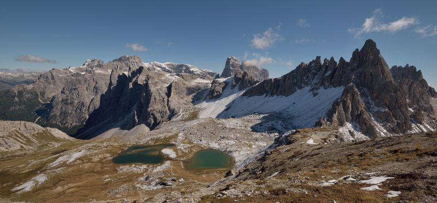 Mit Vollbildmodus mitten in den Sextener Dolomiten.