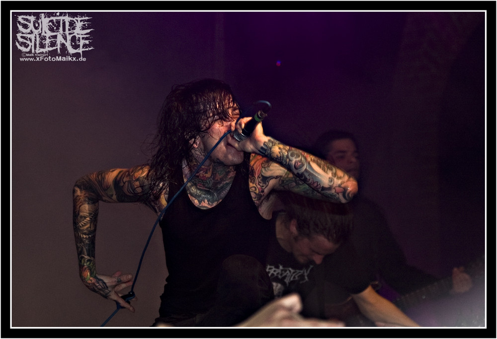 Mitch from SUICIDE SILENCE - Beastfest in Dresden 2009
