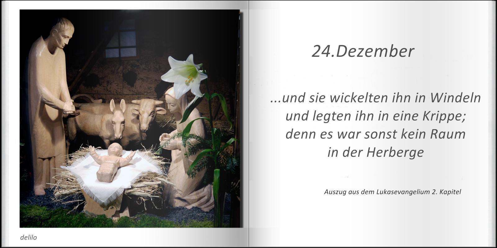 Mitmachaktion - Weihnachtsbüchlein - letzte Seite - 24.Dezember