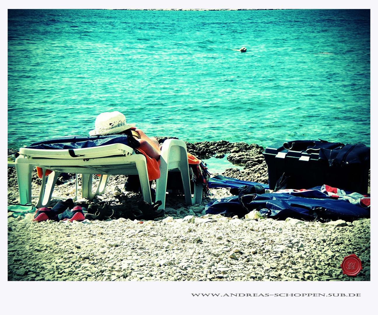 Mittagspause am Strand