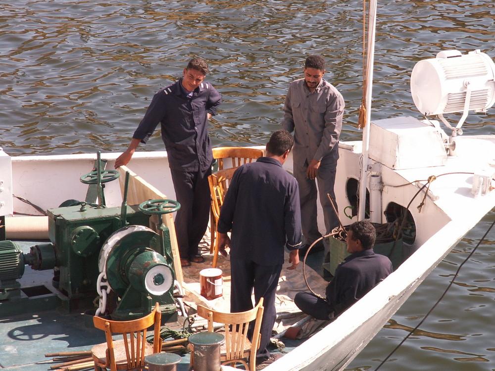 Mittagspause auf dem Nil