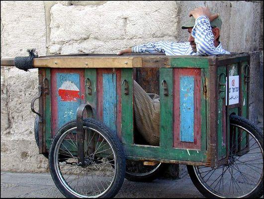 Mittagspause im arabischen Viertel in Jerusalem
