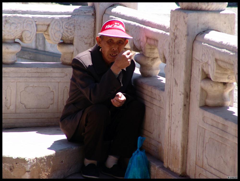 Mittagspause in der verbotenen Stadt in Beijing