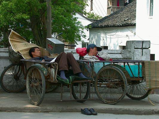 Mittagspause in Suzhou