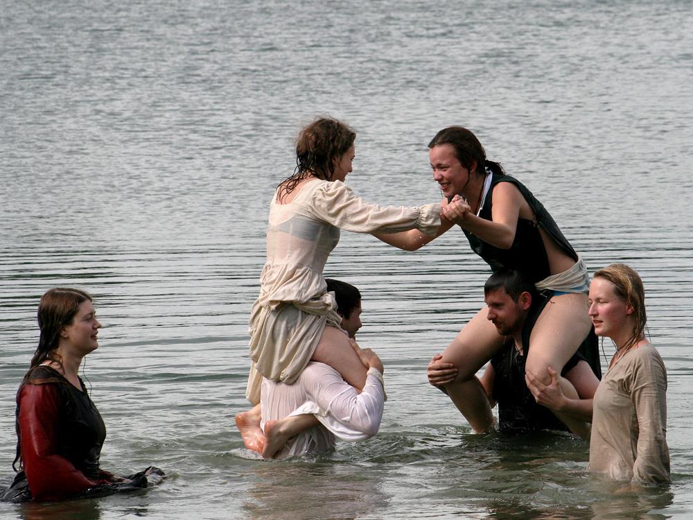 Mittelalterlicher Badespaß