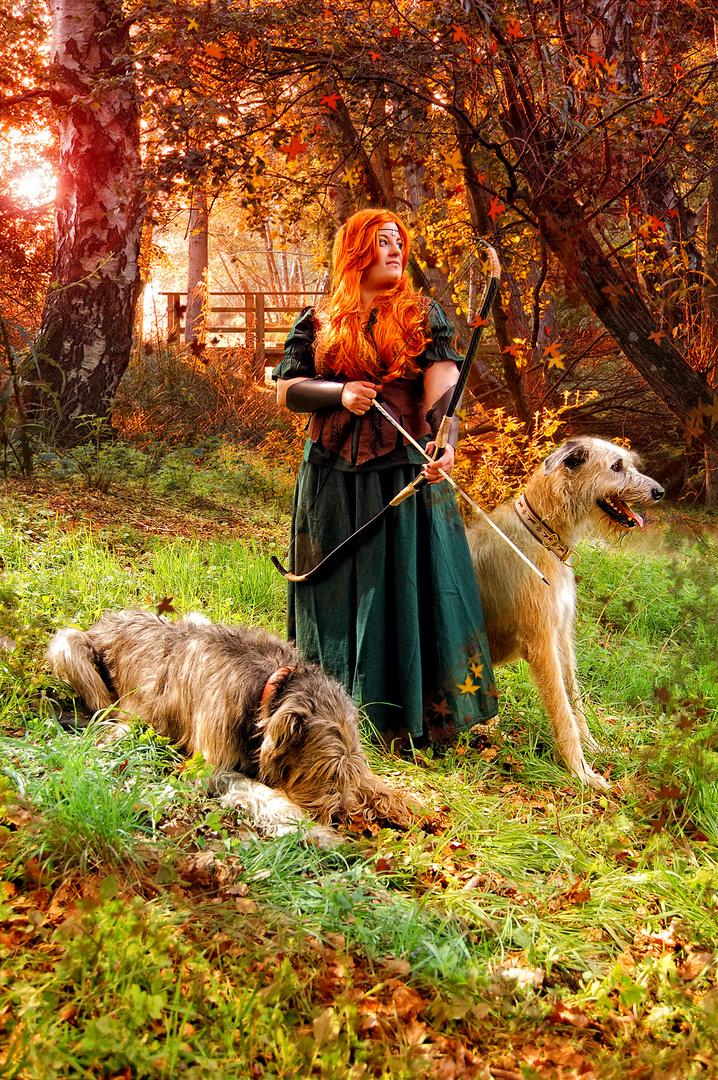 Mittelaltershooting mit Wolfshunden