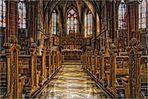 Mittelgang Kath. Pfarrkirche St. Cosmas und Damian in Gau-Algesheim