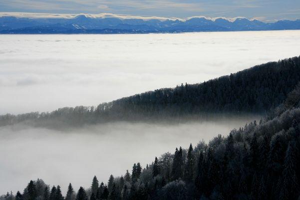 Mittelland im Nebelmeer