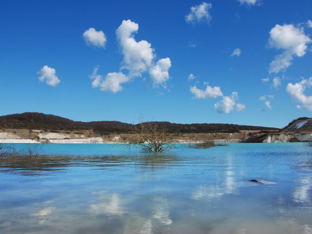 Mittelmeerblau im Kreidebruch bei Sassnitz