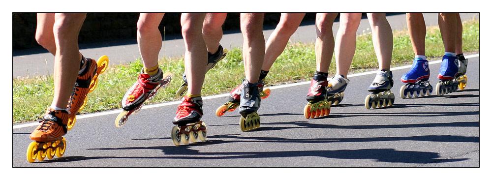 Mittelrhein-Marathon: Inlinerbeine