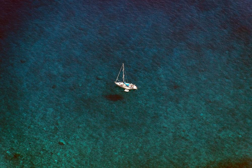 Mitten auf dem Meer