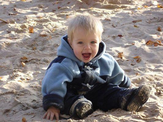 Mitten im Sand