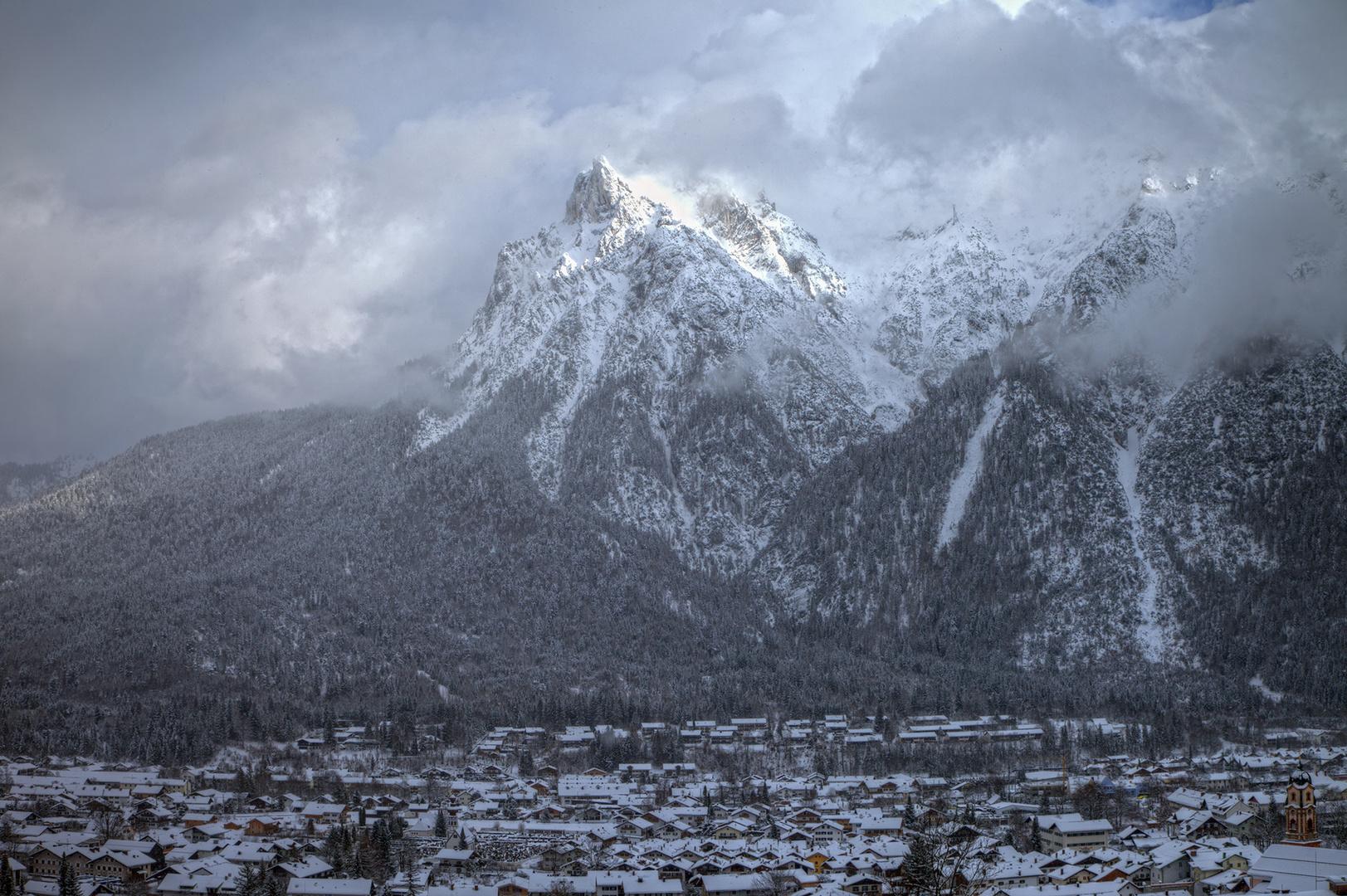 Mittenwald im Schnee