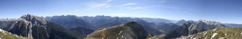 Mittenwalder Höhensteig Panorama