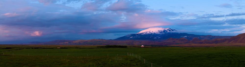 Mitternacht am Vulkan Hekla, Island
