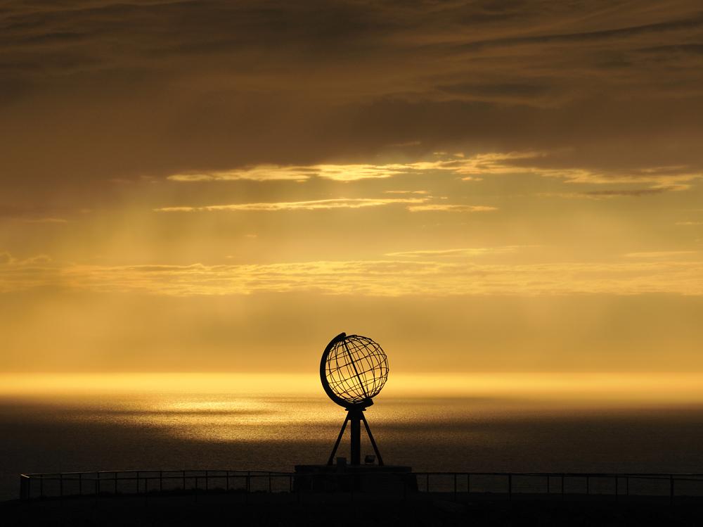 Mitternachtsstimmung am Nordkap