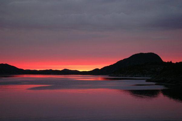 Mittsommernacht am Hervikfjord