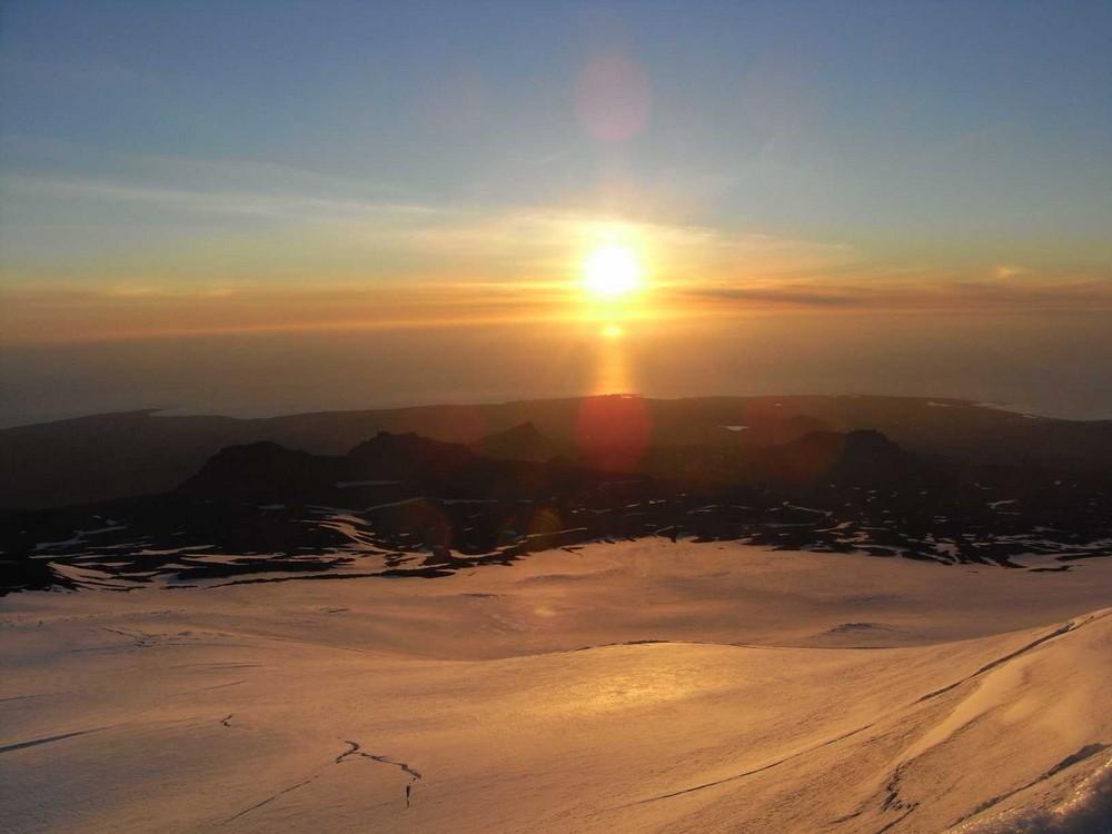 Mittsommernacht - Blick vom Snæfellsjökull 2