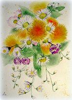 Mittwochsblümchen - Yuri's Wiesenblumenstrauß - fertig :-)