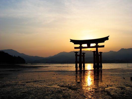 Miyajima Sunset - red