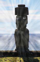 Moai mit Augen