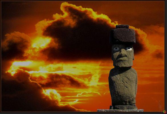 Moai mit Sonne 2